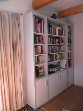 Bücherschrank Grau Weiß - 2