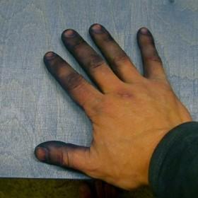 Holz Beize Finger 2
