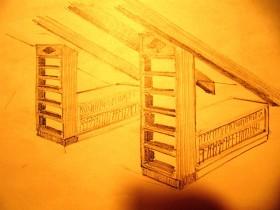 Möbel Ausbau Spitzboden braun weiß